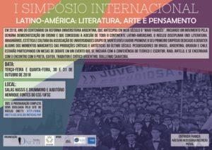 [:pb]Simpósio Internacional: Latino-américa: literatura, arte e pensamento[:]